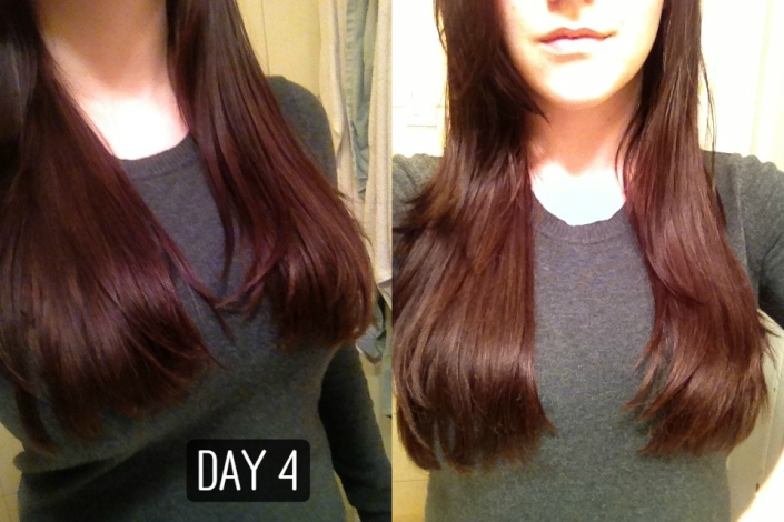 3 Month Update on The Ultimate Water Only Hair Washing Routine - No Poo - Day 4 Ends of Hair