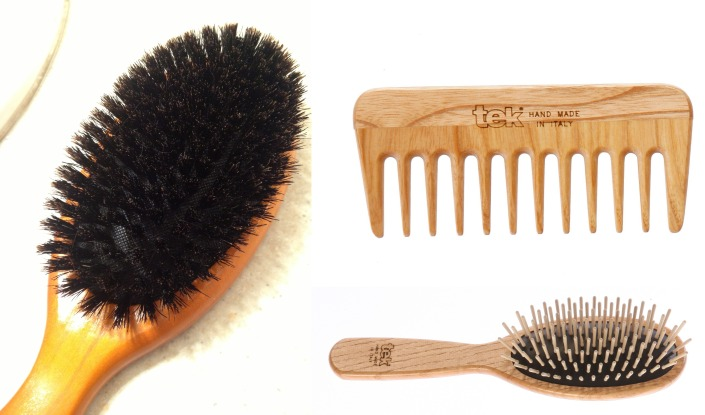 Natural Bristle Hair Brushes - Boar's Hair and Wooden